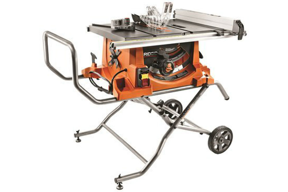Table Saw Heavy Duty : Ridgid r heavy duty portable table saw with stand